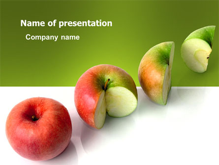Three Quarters Apple Presentation Template For Powerpoint And