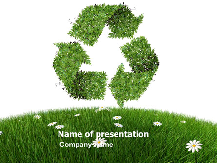 Recycling Symbol Presentation Template for PowerPoint and ...
