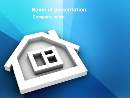 House Icon Presentation Template, Master Slide