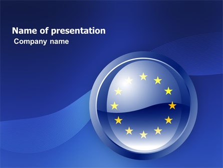 european union sign presentation template for powerpoint and, Powerpoint