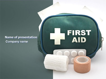 First Aid Set Presentation Template For Powerpoint And Keynote Ppt