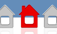 Typical House Of Suburban Icon Presentation Template