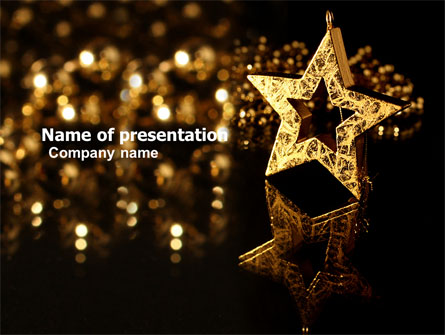 gold star presentation template for powerpoint and keynote | ppt star, Presentation templates
