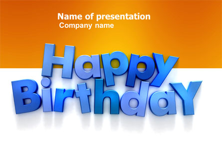 Happy birthday presentation template for powerpoint and keynote happy birthday presentation template master slide toneelgroepblik Images