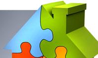 Real Estate Finance Puzzle Presentation Template