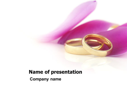 Wedding Rings In A Purple Napkin Presentation Template Master Slide