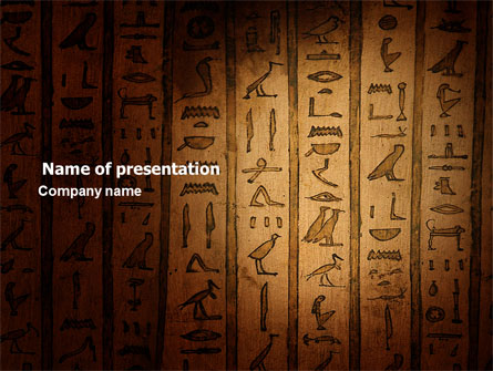 egyptian hieroglyphs presentation template for powerpoint