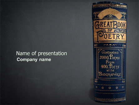 Book Of Poetry on star powerpoint templates