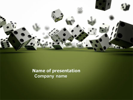Dice In Game Presentation Template For Powerpoint And Keynote Ppt Star