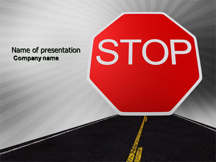 stop sign presentation template for powerpoint and keynote ppt star