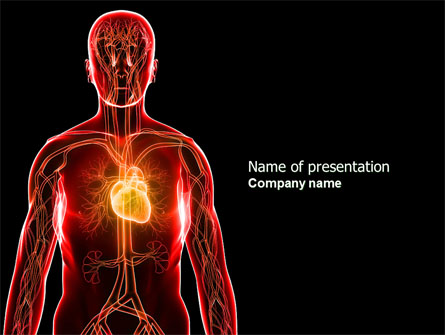 Blood vascular system presentation template for powerpoint for Cardiac ppt template