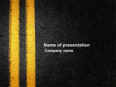road marking presentation template for powerpoint and keynote ppt star