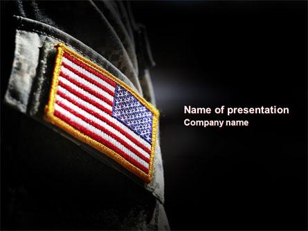 American armed forces presentation template for powerpoint and american armed forces presentation template master slide toneelgroepblik Gallery