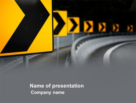 Road reflector presentation template for powerpoint and keynote road reflector presentation template master slide toneelgroepblik Gallery