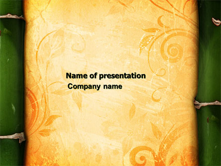 bamboo theme presentation template for powerpoint and keynote ppt star