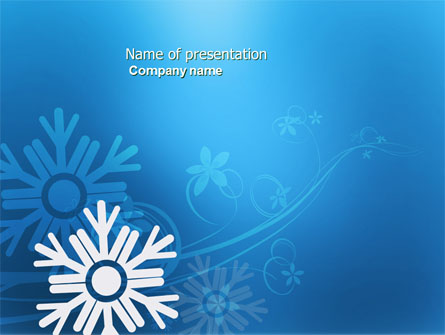 Snowflake Theme Presentation Template For Powerpoint And Keynote
