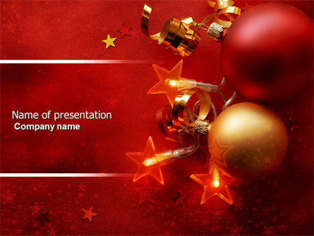 red christmas theme presentation template for powerpoint and, Powerpoint templates