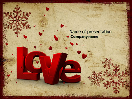 Christmas Love Free Presentation Template For Powerpoint And Keynote
