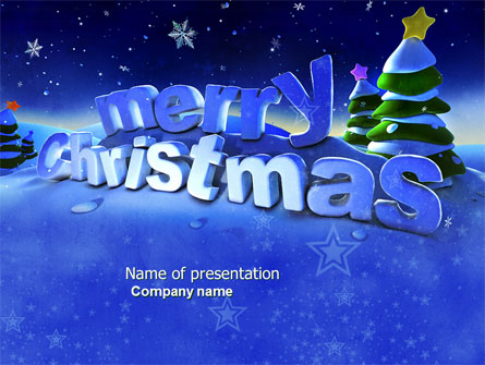 Happy Christmas Theme Free Presentation Template For Powerpoint And