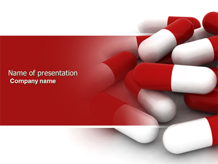 red white pills presentation template for powerpoint and keynote