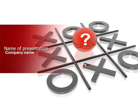 Tic Tac Toe Presentation Template For Powerpoint And Keynote Ppt Star