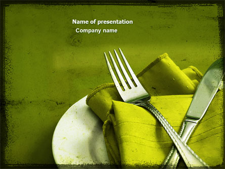 Flatware Presentation Template For Powerpoint And Keynote
