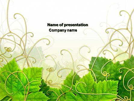 Grape Leaves Ornament Presentation Template Master Slide