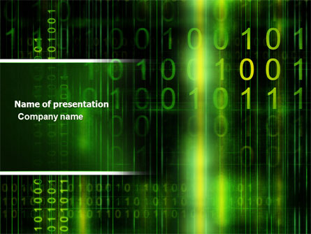 matrix code presentation template for powerpoint and keynote  ppt, Powerpoint