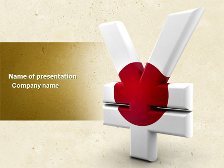 yen currency of japan presentation template for powerpoint and, Powerpoint templates