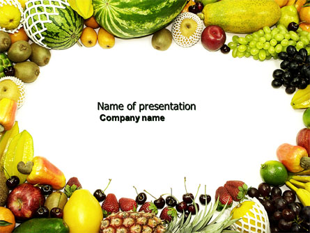 fruit profusion presentation template for powerpoint and keynote