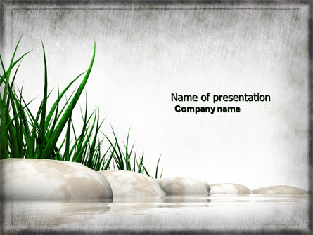 stones and grass presentation template master slide