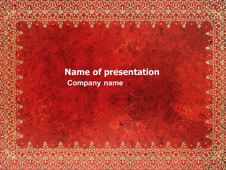 Persian Carpet Presentation Template For Powerpoint And