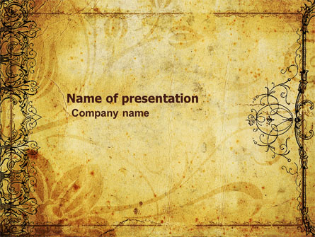 aged paper texture presentation template for powerpoint and keynote