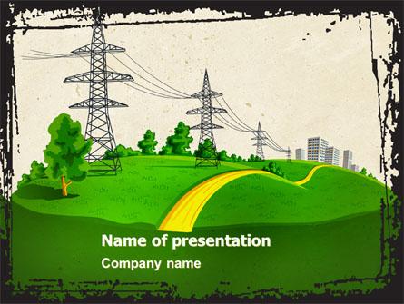 Electric power line presentation template for powerpoint and keynote electric power line presentation template master slide toneelgroepblik Images
