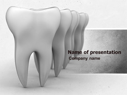 Teeth Presentation Template, Master Slide