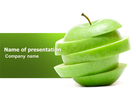 Sliced green apple presentation template for powerpoint and keynote sliced green apple presentation template master slide toneelgroepblik Image collections