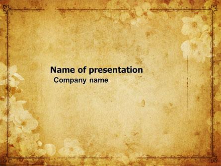 Grunge Flower Texture Presentation Template For Powerpoint