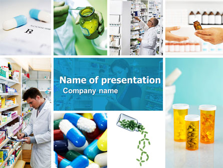 pharmacy collage presentation template for powerpoint and keynote