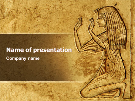 egyptian engraving presentation template for powerpoint