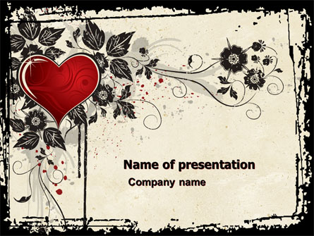 Love Ornament Presentation Template For Powerpoint And Keynote Ppt