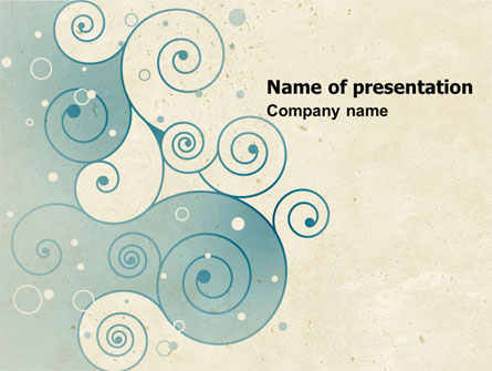 swirly curls presentation template for powerpoint and keynote ppt star