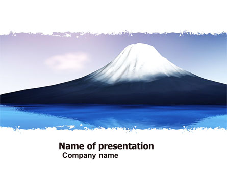 Mount fuji presentation template for powerpoint and keynote ppt star mount fuji presentation template master slide toneelgroepblik Image collections