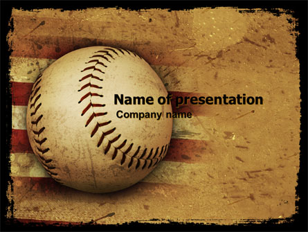 American Baseball Presentation Template For Powerpoint And Keynote