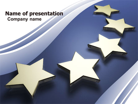 stars of european union presentation template for powerpoint and, Modern powerpoint