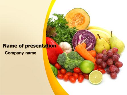 Fruits and Vegetables Presentation Template, Master Slide