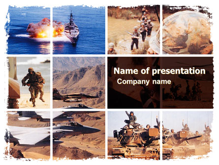 War Conflicts Collage Presentation Template, Master Slide