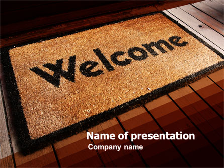 welcome carpet presentation template for powerpoint and keynote, Powerpoint templates