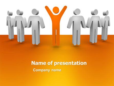 Orange Winner Presentation Template, Master Slide