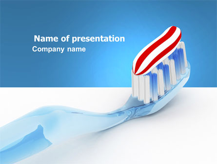 Toothpaste Presentation Template, Master Slide
