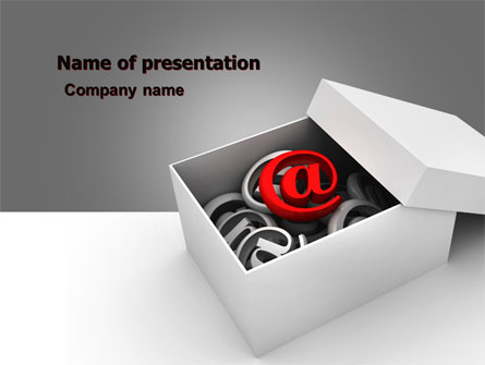 Email Shipping Presentation Template, Master Slide